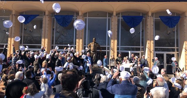 The Unveiling of Mattox Statue Donated by Sub T-16