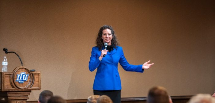 LCU Hosts Ginger Nelson at Annual Business as a Calling Luncheon
